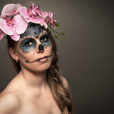 Female Skull Make Up. Photography by Christoph Haubner | 2016