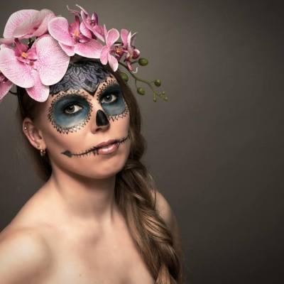 Female Skull Make Up. Photography by Christoph Haubner | 2016