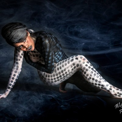 Airbrush und Bodypaint Black and White