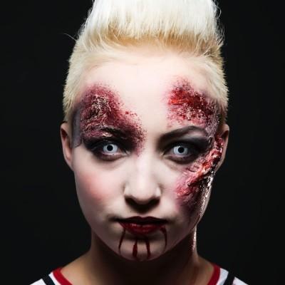 Halloween Zombie Make Up Maske. Fotograf: Richard Schnabler, Visagistin und Stylistin: Entire Beauty | Nadja Maisl, 2013, Salzburg