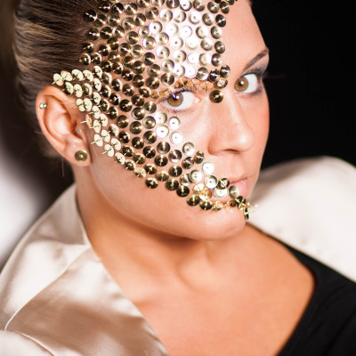 Gold Make Up Fotoshooting. Visagistin und Stylistin: Entire Beauty | Nadja Maisl, 2014, Salzburg