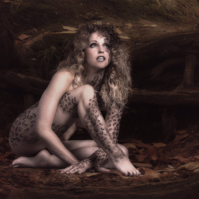 Bodypaint und Airbrush Leopard. Visagistin und Stylistin: Nadja Maisl | Entire Beauty, 2015, Salzburg